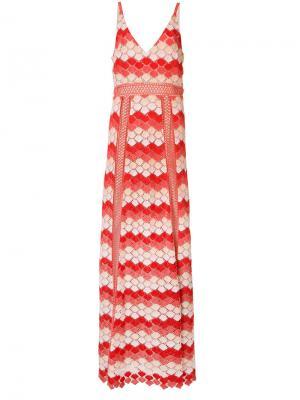 Вечернее платье Misty Zac Posen. Цвет: жёлтый и оранжевый