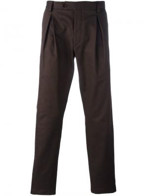 Прямые брюки со складками Al Duca D'Aosta 1902. Цвет: коричневый