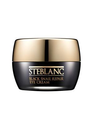Крем для ухода за кожей вокруг глаз  восстанавливающий с муцином Черной улитки (80%), 30мл STEBLANC. Цвет: белый