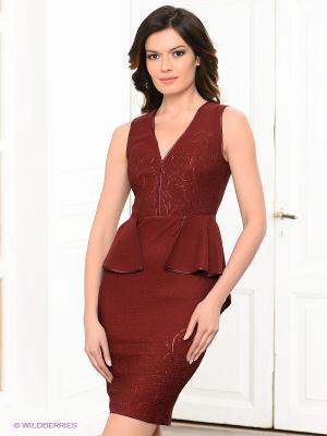 Платье BIRRIN. Цвет: бордовый