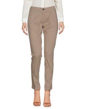 Повседневные брюки INX #THINK COLORED. Цвет: бежевый