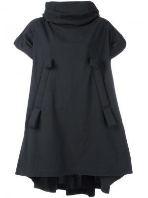 Короткое платье с бантами Bernhard Willhelm. Цвет: чёрный