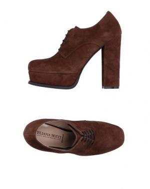 Обувь на шнурках ELIANA BUCCI. Цвет: хаки