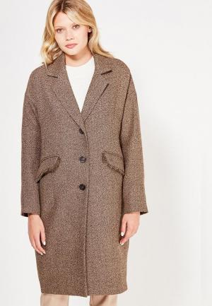 Пальто Brassorti. Цвет: коричневый