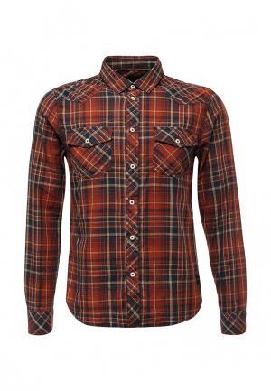 Рубашка Solid. Цвет: коричневый