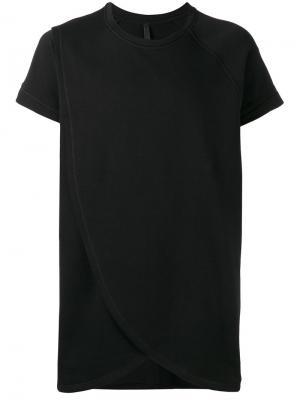 Многослойная футболка Barbara I Gongini. Цвет: чёрный