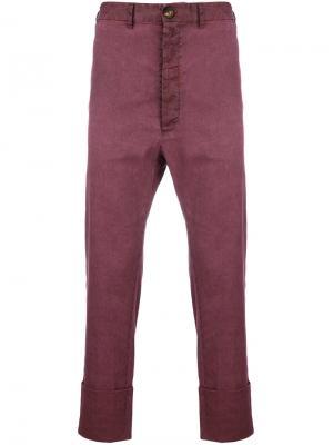 Классические чиносы Vivienne Westwood. Цвет: розовый и фиолетовый