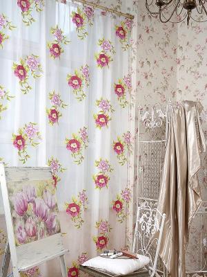 Тюль Буржуа DAILY by TOGAS. Цвет: белый, зеленый, розовый
