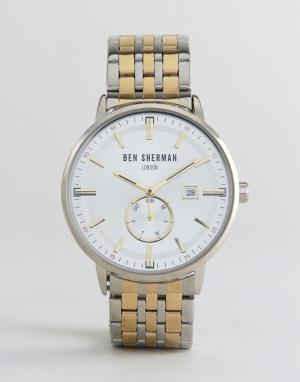 Ben Sherman Наручные часы WB071GSM. Цвет: серебряный