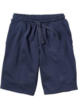 Трикотажные шорты стандартного покроя (темно-синий) bonprix. Цвет: темно-синий