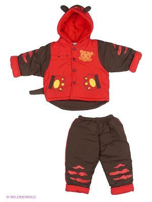 Комплект Happy Bear. Цвет: коричневый, красный