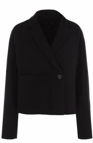 Шерстяной жакет свободного кроя с накладными карманом Proenza Schouler. Цвет: черный
