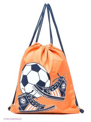 Рюкзак PlayToday. Цвет: оранжевый, темно-синий