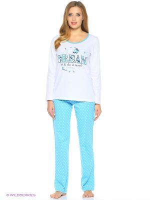 Пижама NAGOTEX. Цвет: бирюзовый