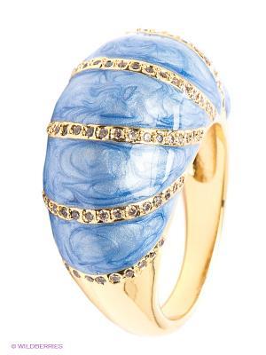 Кольцо Happy Garnets. Цвет: голубой, золотистый