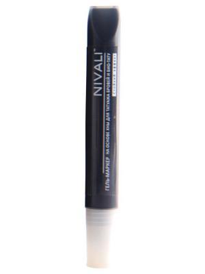 Гель-маркер с хной Nivali. Цвет: черный