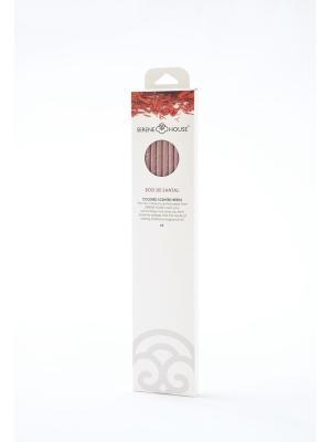 Парфюмерные палочки Белый сандал, 6 шт SERENE HOUSE. Цвет: коричневый