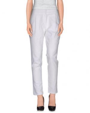 Повседневные брюки DEBY DEBO. Цвет: белый