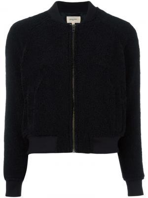 Куртка бомбер на молнии Bellerose. Цвет: чёрный