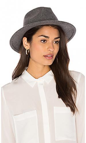 Шляпа федора corbet Brixton. Цвет: серый