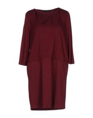Короткое платье DIDIER PARAKIAN. Цвет: красно-коричневый