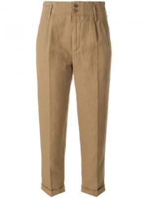 Укороченные брюки  с завышенной талией Aspesi. Цвет: коричневый