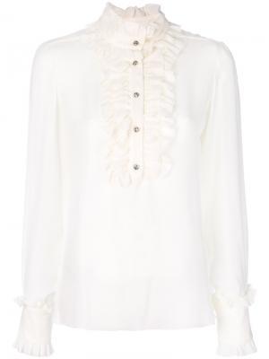 Ruffled front blouse Dondup. Цвет: телесный
