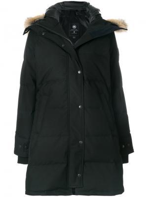 Парка-пуховик с капюшоном Canada Goose. Цвет: чёрный