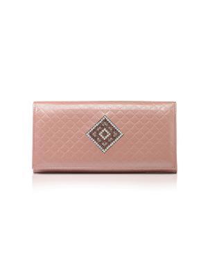 Портмоне женское, СТЕФАНИ розовая Domenico Morelli cristalli. Цвет: бледно-розовый, розовый