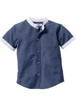 Рубашка, Размеры  80/86-128/134 (индиго) bonprix. Цвет: индиго