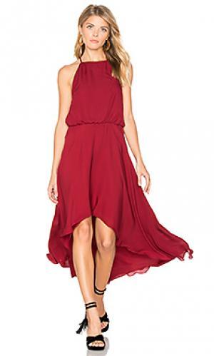Платье с высоким горлом Haute Hippie. Цвет: красный