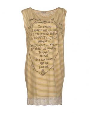 Короткое платье TUA NUA. Цвет: бежевый
