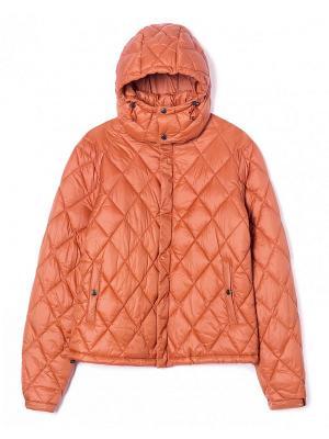 Куртка United Colors of Benetton. Цвет: оранжевый