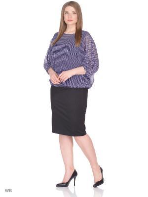 Блузка BARTELLI. Цвет: синий, белый, фиолетовый
