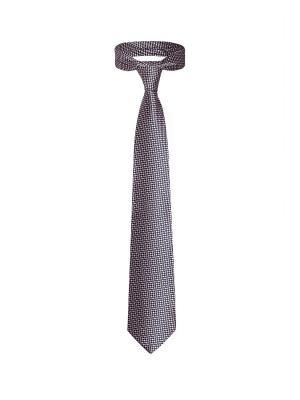 Классический галстук Дело в Нью Йорке с оригинальным принтом Signature A.P.. Цвет: синий, белый, розовый