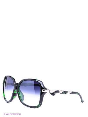 Солнцезащитные очки Vittorio Richi. Цвет: черный, зеленый