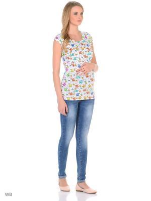 Джинсы для беременных 40 недель. Цвет: голубой