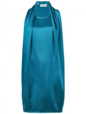 Платье с драпировкой Gianluca Capannolo. Цвет: синий