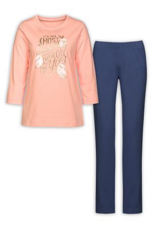 Комплект: джемпер, брюки Pelican. Цвет: персиковый