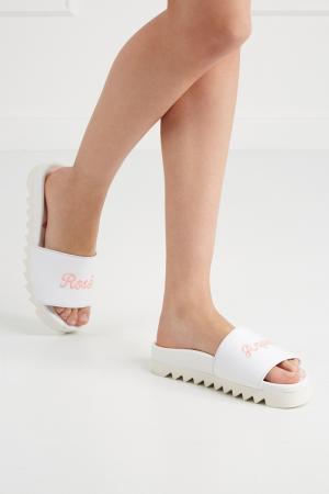 Хлопковые сандалии Rose Anyone Joshua Sanders. Цвет: белый, розовый