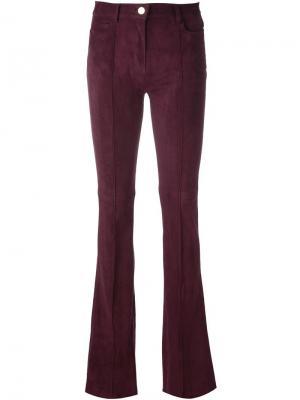 Расклешенные кожаные брюки Jitrois. Цвет: розовый и фиолетовый