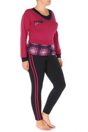 Пижама BON-AR. Цвет: розовый, темно-синий