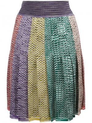 Плиссированная юбка Missoni. Цвет: none