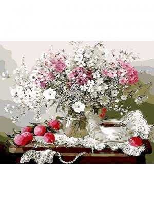 Картины по номерам Дачный натюрморт Цветной. Цвет: белый