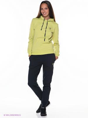 Спортивный костюм Runika. Цвет: салатовый, темно-синий