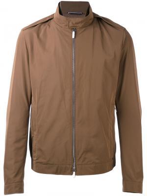 Куртка-ветровка на молнии Boss Hugo. Цвет: коричневый