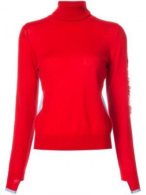 Пуловер с отворотной горловиной Barrie. Цвет: красный