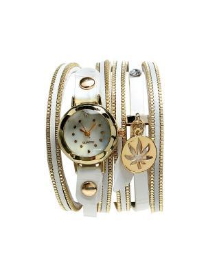 Браслет- часы Olere. Цвет: белый, золотистый
