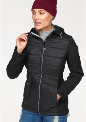 Функциональная куртка POLARINO. Цвет: серо-зеленый, черный