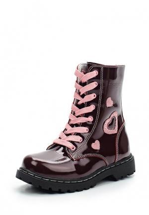 Ботинки Зебра. Цвет: бордовый